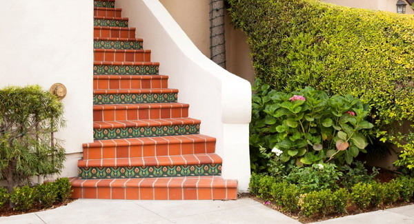 Clinker tiles for steps