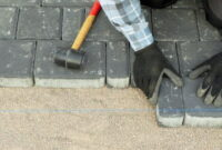 How to Lay paving slabs on sand 1