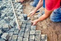 How to Lay paving slabs on sand 20