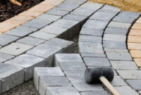 How to Lay paving slabs on sand 4