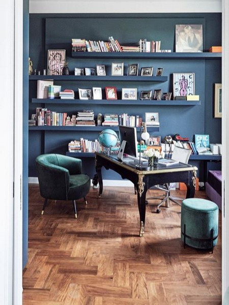 How to choose right wall color for the office or study